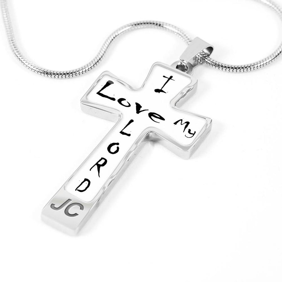 Jesus cross necklace - cross necklace with Jesus on a cross necklace with Free Engraving