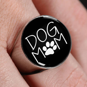 * Christmas Week ONLY Special* Dog  Mom Unisex Silver Ring