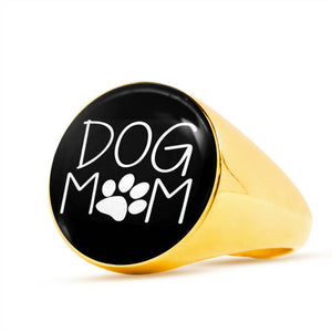 * Christmas  Week ONLY Special* Dog Mom Gold Plated Unisex Ring