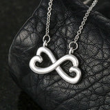 To Mom I Love you Silver Infinity Necklace