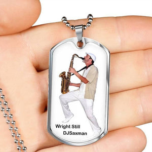 Customized dog tags - Personalize Dog tag with engraving Grab this Silver Dog Tag for your loved one with engraving on back. Uploaded your photo