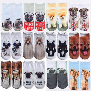 Adorable Women's men children Socks Cute Pet 3-D Printed Ankle Socks Gift