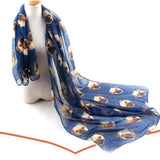 Hot New Women's Winter Warm Animal Pug Print Wrap Scarf Shawl