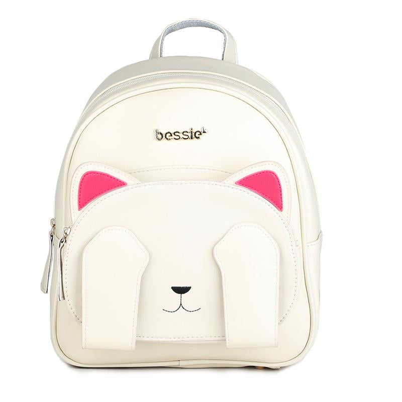 Backpack School Women Leather Cat Backpacks for Teenage Girls Canvas Shoulder Bags