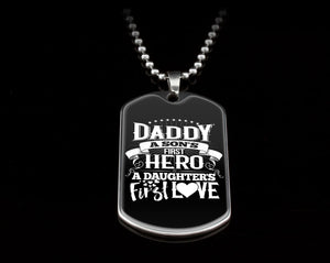 Fathers Day Daddy Sons 1st  Hero Daughter