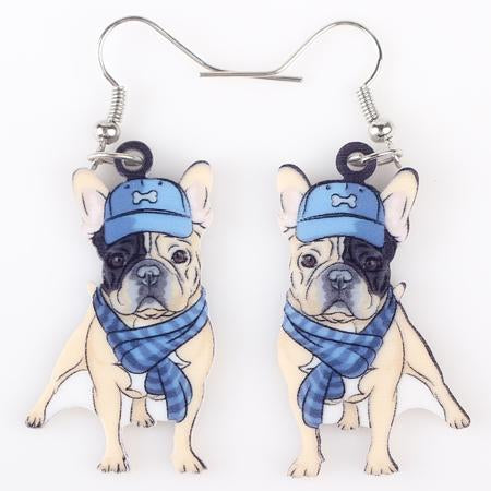 Colorful Cute Pitbull Dog Acrylic Earring For Girls Gift -Women Earrings