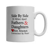 Side by side or miles apart White Mug