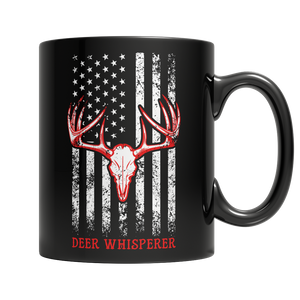 Deer Whisperer Black Mug