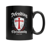 Defending Christianity Black Mug