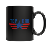 Top Dad Black Mug