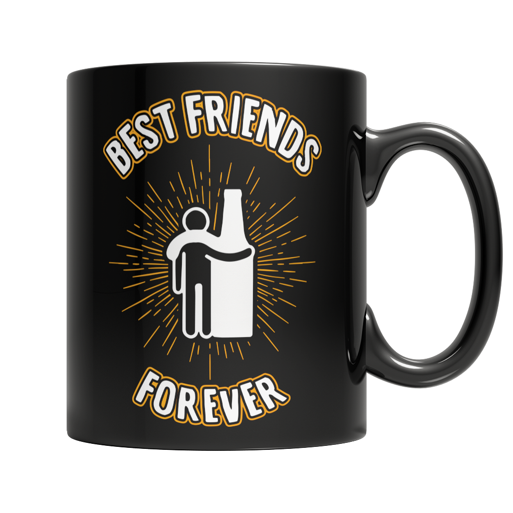Best Friends Forever Black Mug