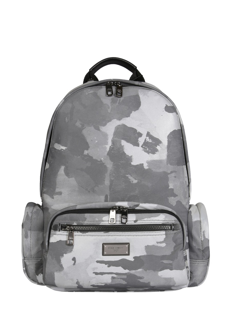 DOLCE E GABBANA white cotton Backpack