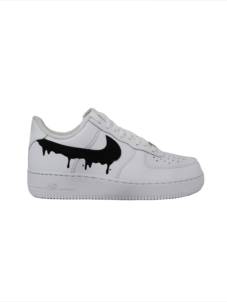 NIKE/LABORATORIO17 Air force 1 drip white leather sneakers