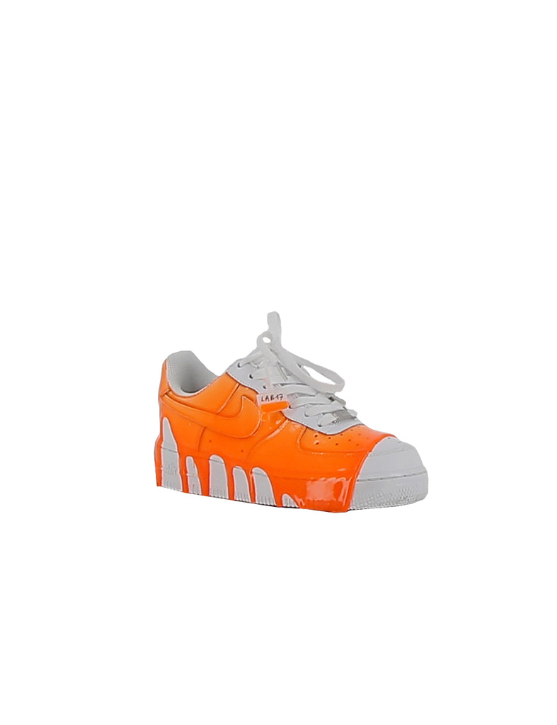 NIKE/LABORATORIO17 Air force 1 slime orange leather Sneakers