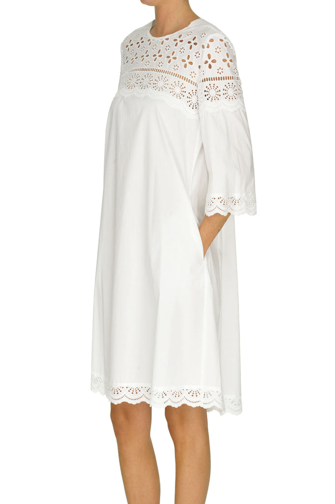 SEVENTY white cotton Dress
