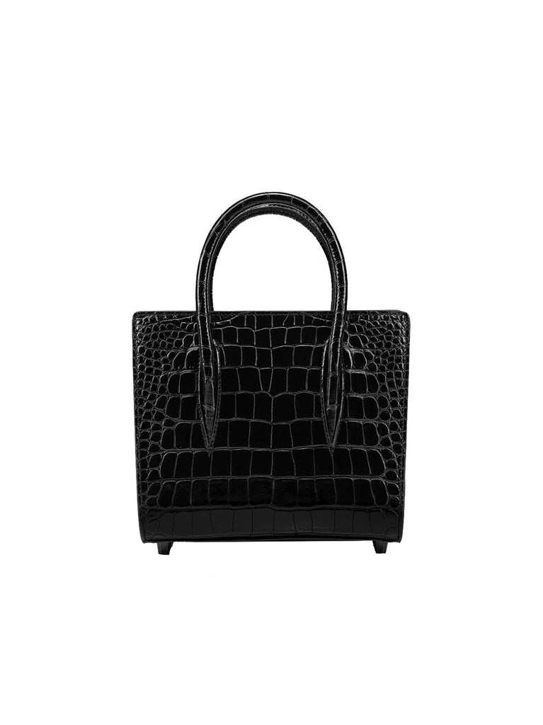 CHRISTIAN LOUBOUTIN Paloma small black leather Handbag
