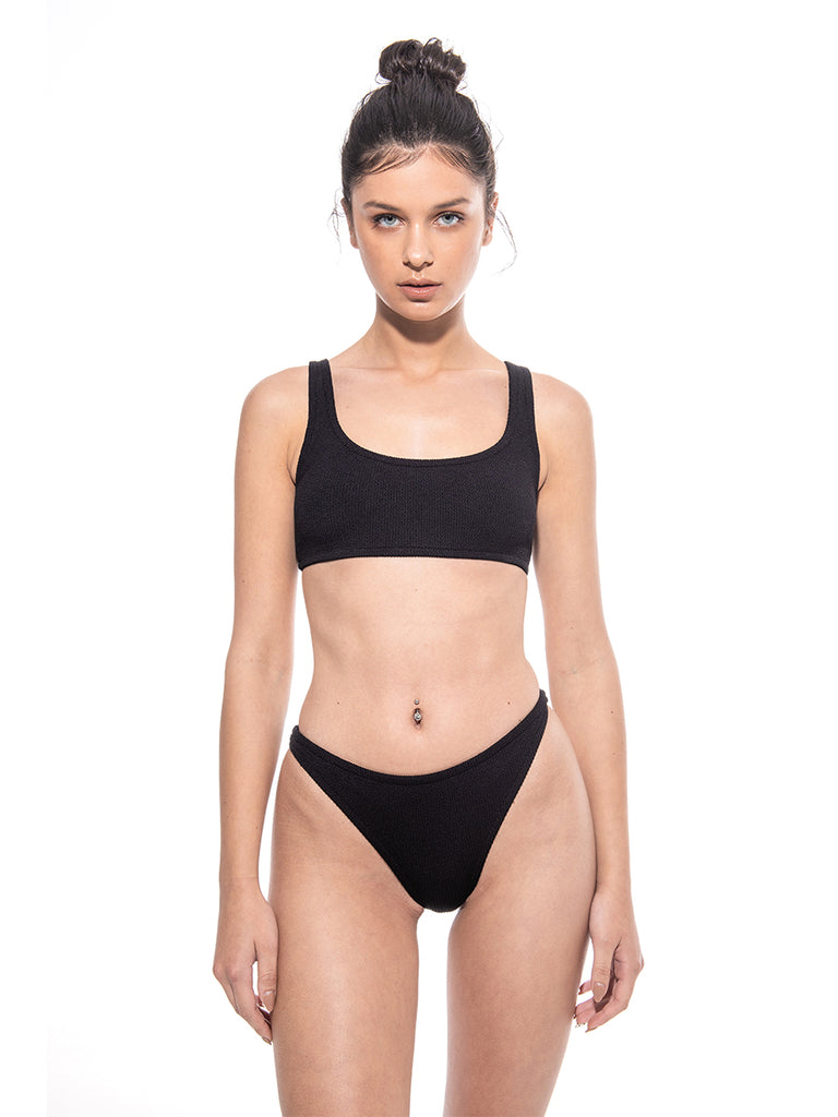 PARAMIDONNA One size collection black nylon Bikini