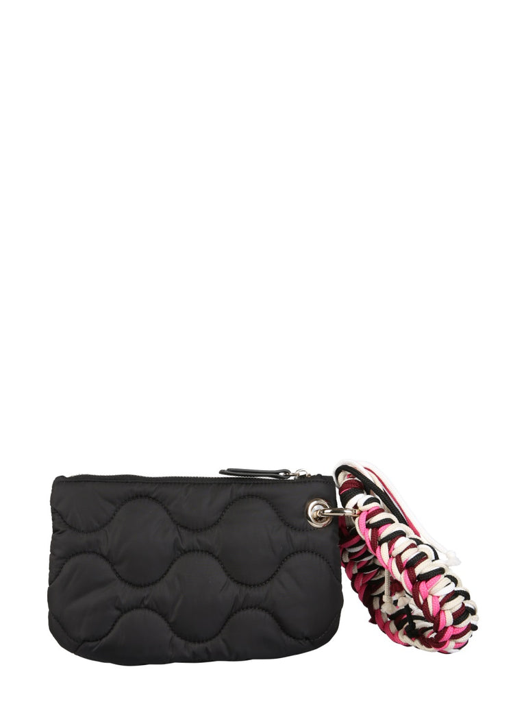 RED VALENTINO black nylon Clutch