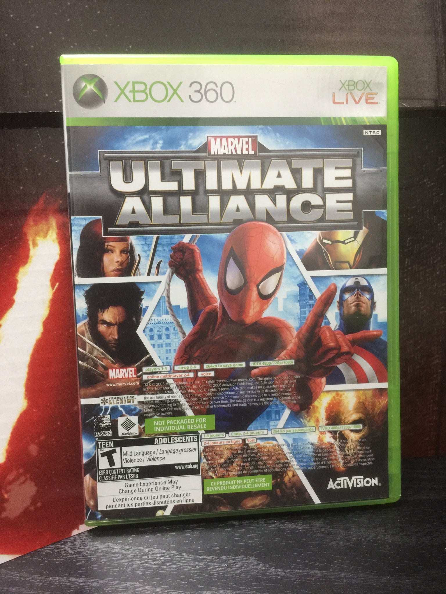 Xbox 360 Marvel Ultimate Alliance + Forza 2 Video Game Lot