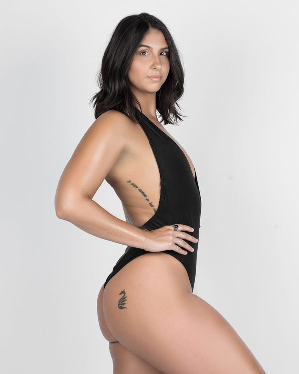 Tidal Black- One Piece Halter
