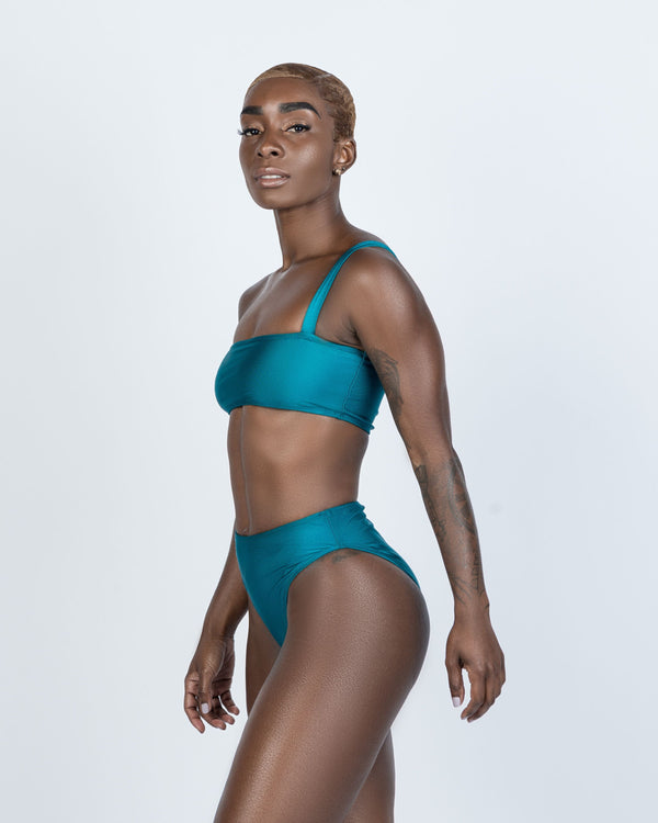 Tobago Turquoise/Green  Tube Top- Single Strap