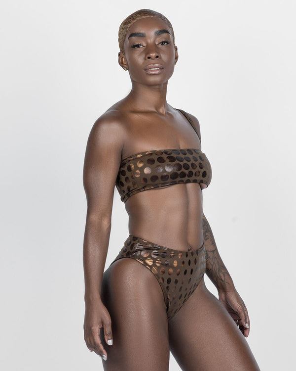 Tobago Golden Brown Tube Top- Single Strap