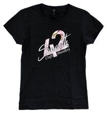 Load image into Gallery viewer, T-Shirt - Black Ladies Cut With Pink Camo Smooth 42 Logo