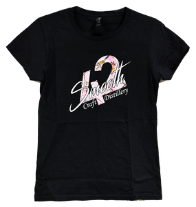 T-Shirt - Black Ladies Cut With Pink Camo Smooth 42 Logo
