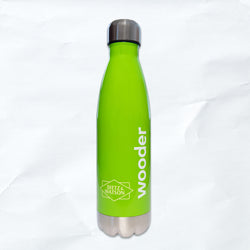 reusable wooder bottle - neon green