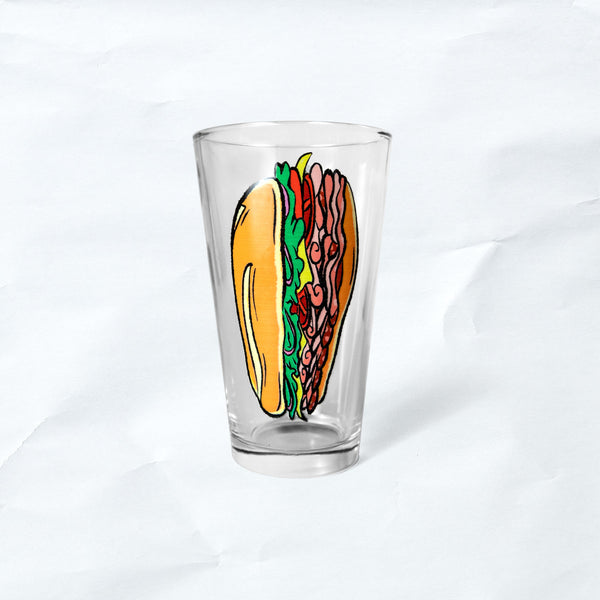 hoagie pint glass