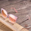Round Pink Fritillaria Stylish Sunglasses for Women