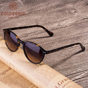 Round Tortoise Sam Acetate Frame Stylish Sunglasses