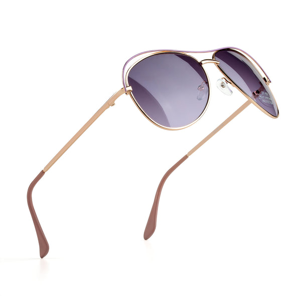 COLOSSEIN Metal Front Frame & metal wire drawing legs Polarized lens - myglassesmart.com