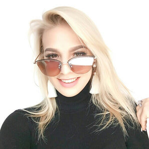 Rimless Frame Mirrored Stylish Sunglasses