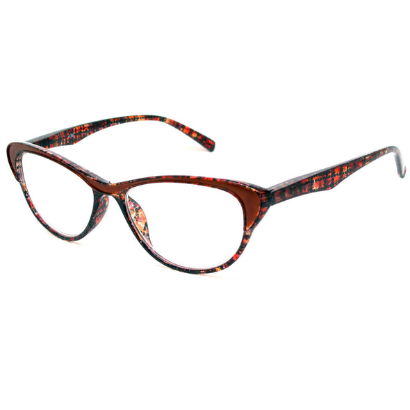 Glitter Cateye Reading Glasses Spring Hinge Women Readers 1.00-4.00 - myglassesmart.com