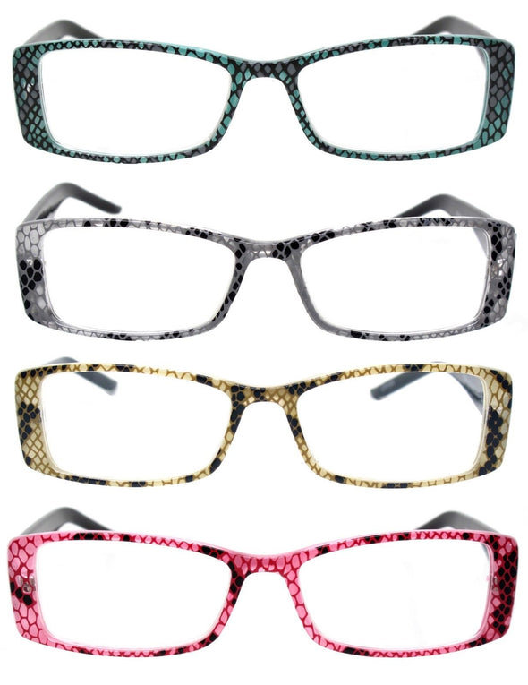 Trendy Animal Print Temple Eyewear Readers Women's Reading Glasses - myglassesmart.com