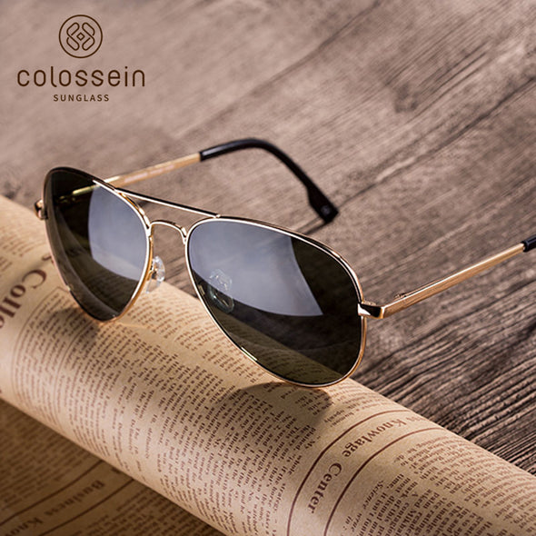 Green Pilot Vintage Stylish Sunglasses for Women