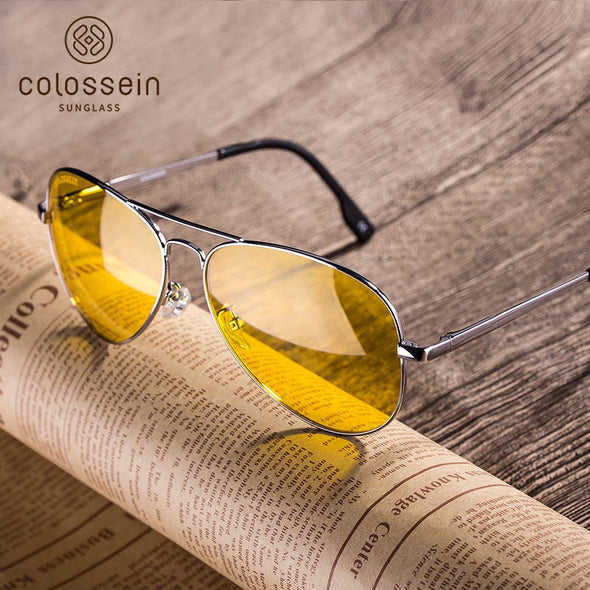Yellow Pilot Vintage Stylish Sunglasses for Women