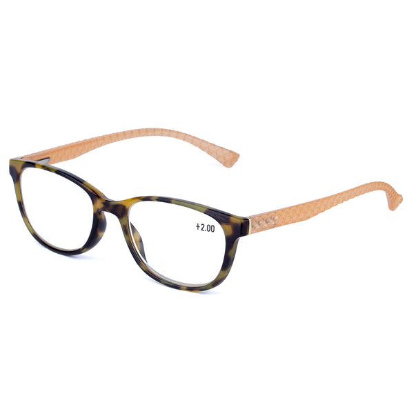 Reading Glasses two COLOR with Fritillary & Tortoise decoration - myglassesmart.com