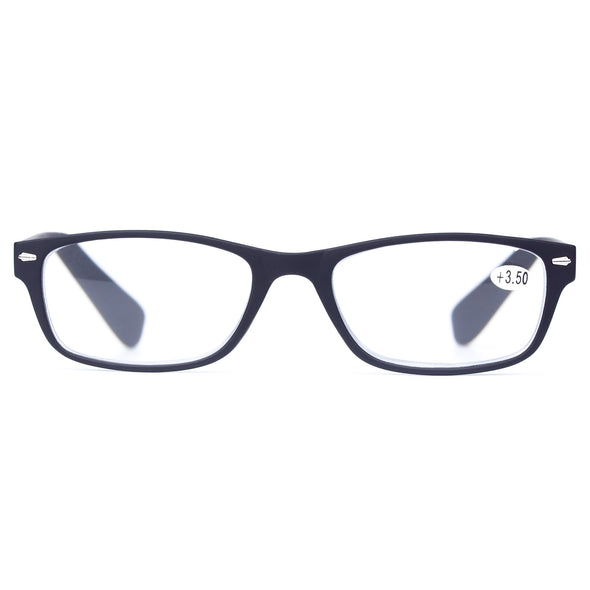 Reading Glasses Classic River Square Frame Horn Rimmed Readers - myglassesmart.com
