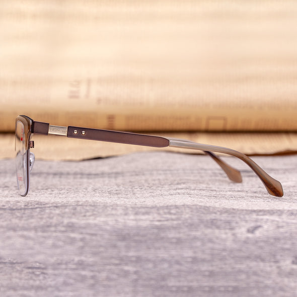 RED CETTU Design Fashion Square Optical Glasses with Metal & Acetate mix Frame RC011 - myglassesmart.com