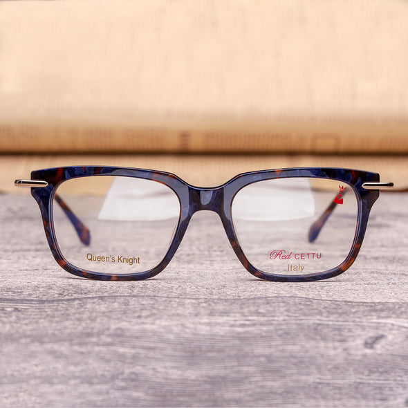 RED CETTU Design Fashion Square Optical Glasses with Acetate Frame & Metal Leg RC001 - myglassesmart.com