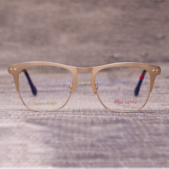 RED CETTU Design Fashion Square Optical Glasses with Metal Frame & Acetate Leg RC005 - myglassesmart.com