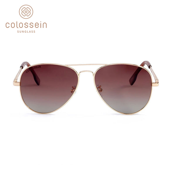 Brown Pilot Vintage Stylish Sunglasses for Women
