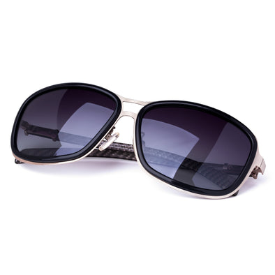 Square Black Carbon Fibre Mens Designer Sunglasses