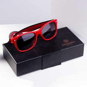 Square Red Stylish Sunglasses for Women