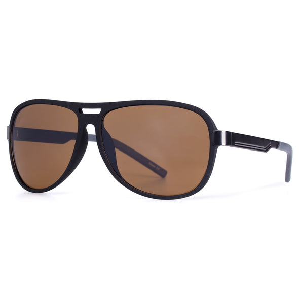 Oval Brown Pilot Style Mens Designer Sunglasses