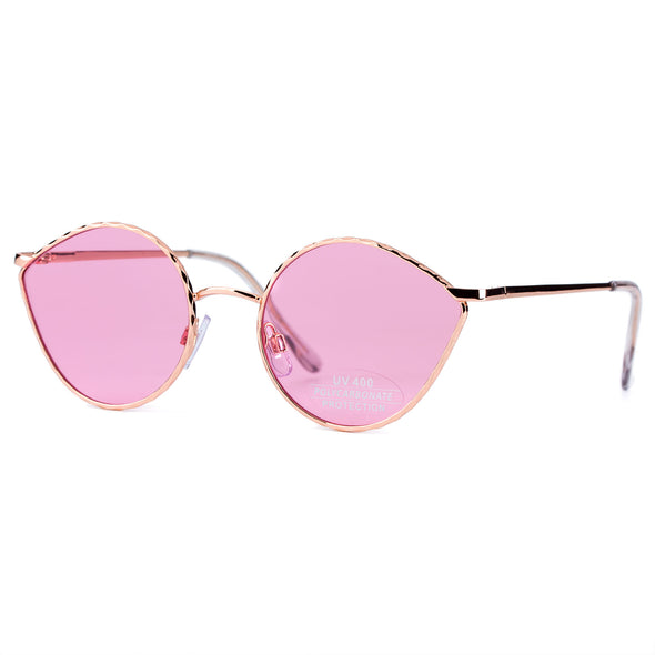 COLOSSEIN Classic Metal Fashion Sunglasses with colorful 100% UV protection Lens - myglassesmart.com