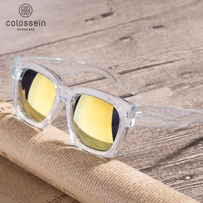 PINGLAS  Classic Squre Fashion Sunglasses  with mirror coating 100% UV protection Lens - myglassesmart.com