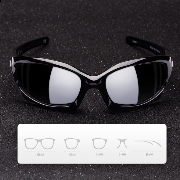 MEETLOCKS Sports Glasses  With UV400 Protection & TR90 Frame for Riding Fishing Driving Golf Running - myglassesmart.com